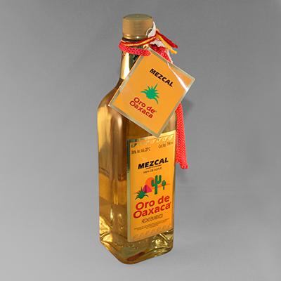 MEZCAL ORO DE OAXACA 38%VOL con Gusano de Agave en botella con 700ml