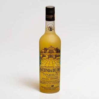 TEQUILA HACIENDA de ORO REPOSADO 38%Vol 100%Agave en botella con 700ml